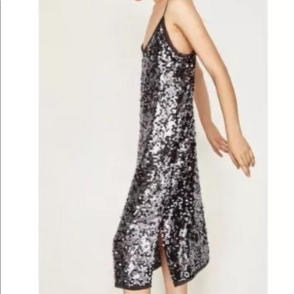 e7d253c4 Zara Dresses | Sequin Slip Dress | Poshmark